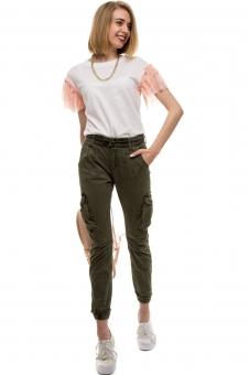 Женские брюки карго-пэнтс  – классический стиль милитари