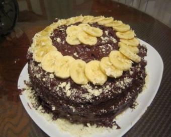 Вкуснейший банановый торт